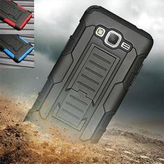 Heavy Duty Future Armor Case Shockproof Cover For Samsung Galaxy Grand Prime G530H G530F G531H Hybrid Cover Holster Belt Clip