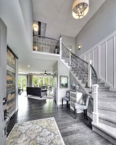 Home Interior Design Games for Adults Luxury Homes Dream Houses, Dream House Interior, Dream Home Design, Home Interior Design, My Dream Home, House Design, Interior Design Farmhouse, Staircase Design, Foyer Staircase