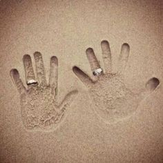 Adorable beach wedding handprints. For more wedding inspiration check out our other Veilability boards or visit facebook.com/Veilability
