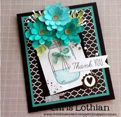Card created by Chris Lothian using December Stamp of the Month - Candlelight Garden stamp set, La Vie En Rose papers, Watercolour paints and Fundamental stickers - www.chrislothian.ctmh.com.au