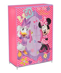 Loving this Minnie Mouse & Daisy 'Go For The Bow' Storage Wardrobe on #zulily! #zulilyfinds