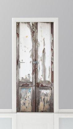 Mooie deurstickers in de vorm van een speciale deur of kast, passend voor elke deur.<br /> Zware metalen deuren, white wash, gekleurd metaal en veel meer soorten stalen prints op een sticker.
