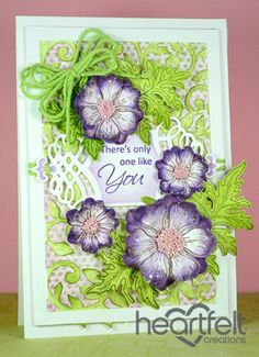 Heartfelt Creations | Only One Like You Purple Blooms