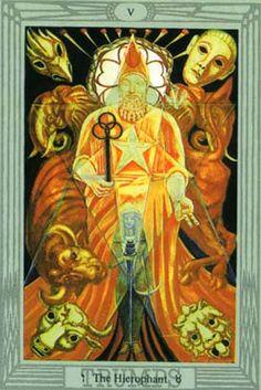 O Papa no Thoth Tarot de Crowley e Frieda Harris