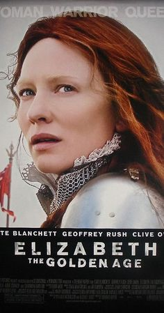 Directed by Shekhar Kapur.  With Cate Blanchett, Clive Owen, Geoffrey Rush, Jordi Mollà. A mature Queen Elizabeth endures multiple crises late in her reign including court intrigues, an assassination plot, the Spanish Armada, and romantic disappointments.