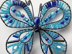Bonnie the Blue Butterfly Easter Spring Beaded by CassieVision, $32.50