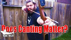 Does Canting a Traditional Recruve Bow Matter? #archerytips #Tradlife