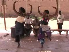 "West African dance (with djembe accompaniment) called ""Danza"""