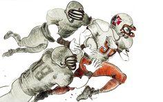 DISEGNI,PITTURA,INCISIONI: The american football players