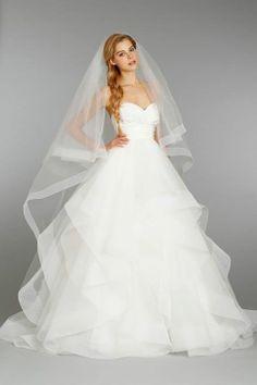Hayley Paige wedding dress long veil
