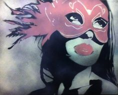 Art  Masquerade by Ray Ferrer   20 x 16 Spray by UrbanWallArt, $300.00