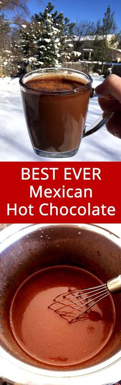 This Mexican hot chocolate is simply EPIC! This is the only recipe I'll ever need!