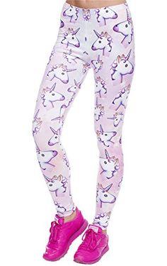 Unicorn stretchy leggings.