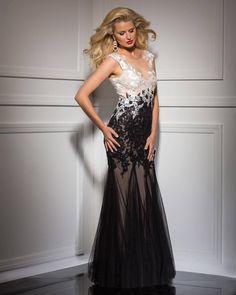 Wishesbridal Sexy Black Illusion Floor Length Trumpet Mermaid Zipper Prom Evening Dress Ccl0095