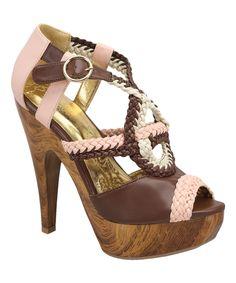 Mona Mia Brown & Pink Vocita Sandal   zulily