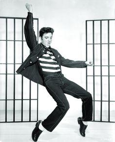 The greatest Elvis Dance performance ever....   Jailhouse Rock 1957