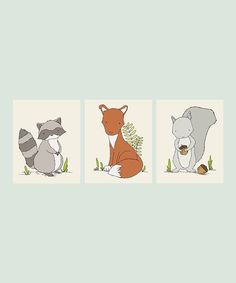 Take a look at this Sweet Melody Designs Woodland Animals 8'' x 10'' Print Set today!