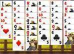 In uno scenario giapponese, vi proponiamo un gioco che sicuramente conoscerete: Il Solitario! Hai a disposizione uno spazio per porre le carte che non sono utili. Buon divertimento!