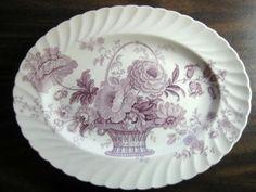 Decorative Dishes - Purple Lavender Lush Basket Roses Scalloped Vintage Oval Platter, $39.99 (http://www.decorativedishes.net/purple-lavender-lush-basket-roses-scalloped-vintage-oval-platter/)