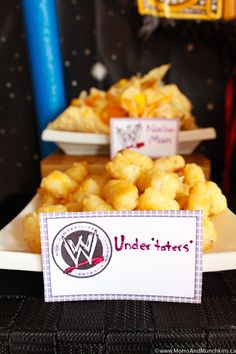 WWE Birthday Party Ideas for Kids - Moms & Munchkins WWE Birthday Party Ideas for Kids - Moms & Munchkins<br> These WWE birthday party ideas are perfect for the little wrestling fans in your home. Fun ideas for games, loot bags, food and more! Wrestling Birthday Parties, Wrestling Party, Wwe Birthday, Birthday Party Desserts, 10th Birthday Parties, Dinosaur Birthday Party, Birthday Party Invitations, Birthday Ideas, Wwe Party