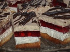 Jogurtowo-serowe ciasto z galaretką i cappuccino