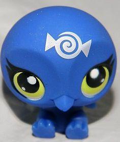 LITTLEST PET SHOP BLUE PENGUIN #3313 GREEN EYES CANDYSWIRL BLIND BAG RARE NEW