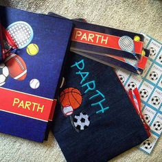 Cute #Sports #hamper  #personalised #stationery #personalisedstationery #cupikdesign #india  #onlinestationery #notebook #stamstickers #bookmarks #multupurposepouch