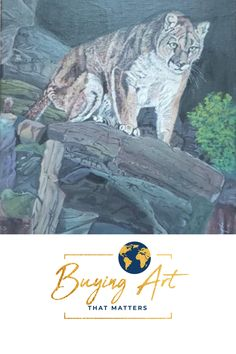 14x18 acrylic on canvas wrap. Buying Art That Matters has the privilege  of selling this realistic painting of a mountain lion from Shirley Rush's -Visions by Shirl- body of work that she left behind. Become part of her legacy by supporting our mission to fund inspiring Christian Mission organizations  that are helping to create a more faith-filled and stronger world.  #artforsale #realisticart #natureart #catart #artwithmeaning Realistic Paintings, Acrylic Paintings, Art With Meaning, Modern Portraits, Mountain Lion, Realism Art, Christian Art, Online Gallery, Organizations