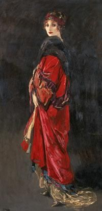 Thank you Lanita for sharing:  'Hazel in Rose and Gold' by John Lavery, 1918