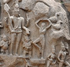 Shiva as Pashupati in 'Arjuna's Penance' rock in Mahabalipuram - See more at: http://www.thenewsminute.com/article/rediscovering-sculptural-legacy-shivas-south-39850#sthash.if02QVM2.dpuf
