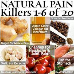 20 Natural Pain Killers