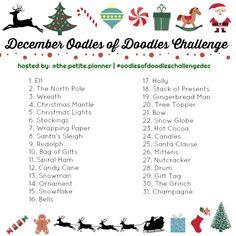 Christmas Doodle Challenge on Instagram (2017)