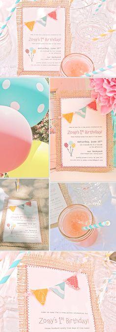 my zoey's birthday invitation :)