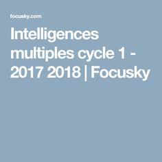 Intelligences multiples cycle 1 - 2017 2018 | Focusky