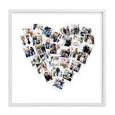 """""""Heart Snapshot Mix™ Photo Art"""" - Custom Photo Art Print by Minted in beautiful frame options and a variety of sizes."""