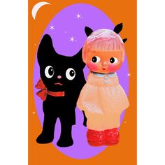 Etsy の halloween doll print aceo size A MEOWGICAL by boopsiedaisy
