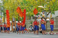 Straßenfestival zum Songkran in Khon Kaen