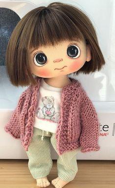 Yarn Dolls, Fabric Dolls, Crochet Dolls, Pretty Dolls, Cute Dolls, Beautiful Dolls, Doll Sewing Patterns, Sewing Dolls, Doll Crafts