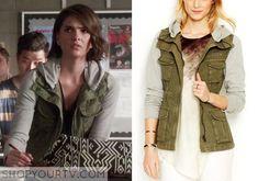 TEEN WOLF: SEASON 5 EPISODE 9 MALIA'S Knit-Sleeve Cargo Jacket