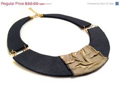 50% OFF SALE Stylish leather necklace. Leather by julishland