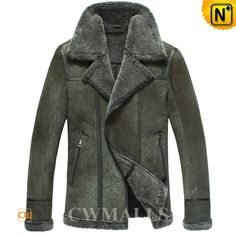 Mens Sheepskin Lined Bomber Jackets CW861231 Winter sheepskin shearling bomber jacket for men, featuring lamb fur trims at the end of body, sleeve cuff and turn-down collar, it is cozy and beautiful, this sheepskin bomber jacket can surely keep you warm even the temperatures drop.  www.cwmalls.com PayPal Available (Price: $1437.89) Email:sales@cwmalls.com