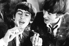 George Harrison and John Lennon.