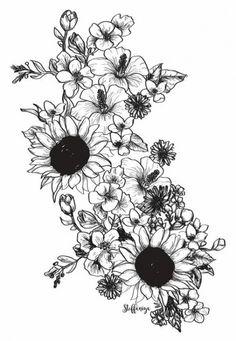 33 Trendy Ideas for tattoo sleeve flowers sunflowers - 33 Trendy Ideas for tattoo sleeve flowers sunflowers # sunflower tattoos # su - Sunflower Tattoo Sleeve, Sunflower Tattoos, Sunflower Tattoo Design, Rose Tattoos, Body Art Tattoos, New Tattoos, Tattoos Pics, Tatoos, Tattoos Gallery