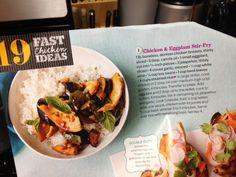 Thai Turkey Eggplant Stir Fry via Coffeecake and Cardio (and 30 Minute Meals by Rachael Ray)