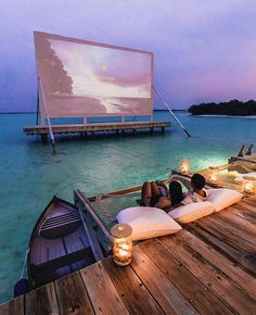 Movie projector in Maldives? Movie projector in Maldives? Vacation Places, Vacation Destinations, Dream Vacations, Vacation Spots, Vacation Wear, Tourist Spots, Holiday Destinations, Destination Voyage, Beautiful Places To Travel