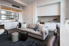 Melbourne CBD Flinders Apartment by Ferrari Interiors Melbourne Cbd, Apartments, Ferrari, Couch, Interiors, Interior Design, Furniture, Home Decor, Nest Design