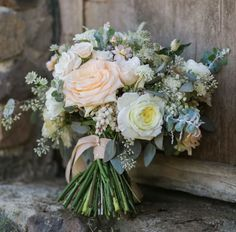 Romantic Pastel Saddlerock Ranch Wedding: Cady + Page Winter Bouquet, Fall Bouquets, Bride Bouquets, Romantic Weddings, Elegant Wedding, Rustic Wedding, Pastel Weddings, Rose Wedding, Wedding Flowers