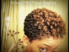 Styling a TWA | Updated Finger Shingling Routine - YouTube