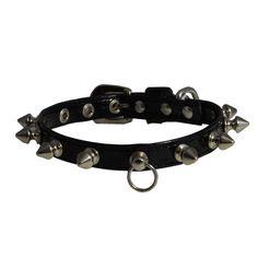 new killer spike dog collar black patent leather