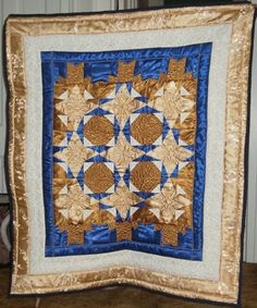 Cotton & Satin lap quilt